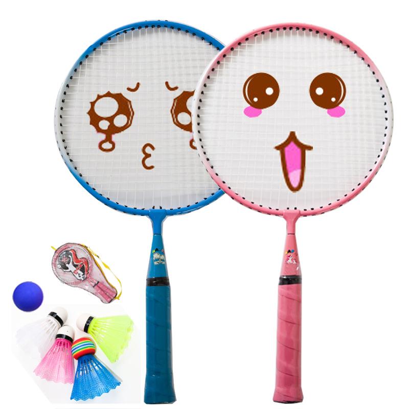 Бадминтон близнецы дробь ребенок игрушка ребенок сверхлегкий любитель ребенок ракетка основной 3-12 лет студент начинающий