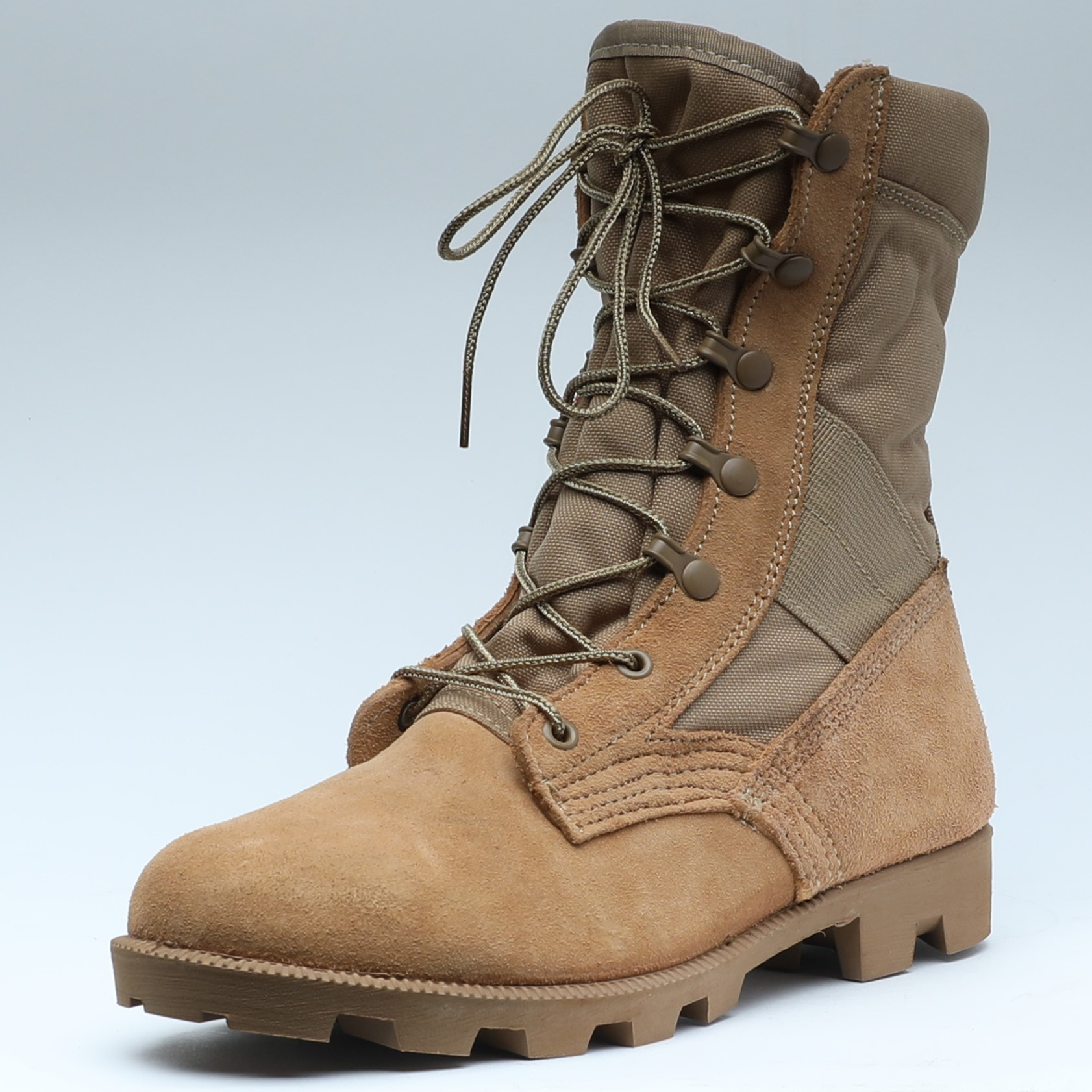 模压大底军靴男美军作战靴丛林靴10寸长伞兵靴子Kevlar凯夫拉防刺