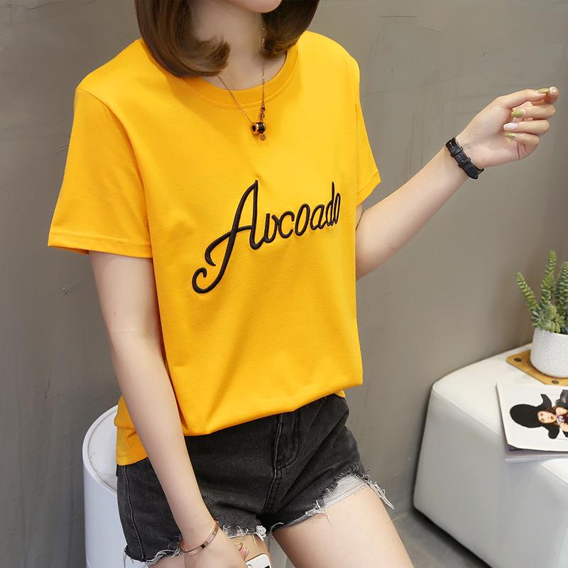 包邮9.9元九块九女装衣服圆领上衣学生韩版T恤短袖9块特价便宜