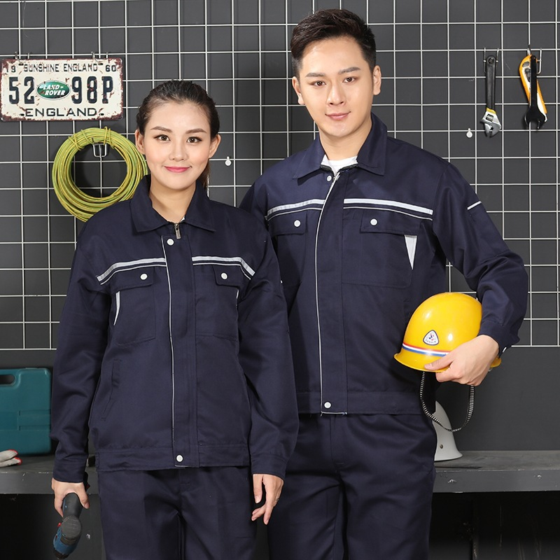 Long sleeve spring and autumn clothes for mechanical drivers, uniform for elevator maintenance workers, uniform for construction engineering supervision and construction staff
