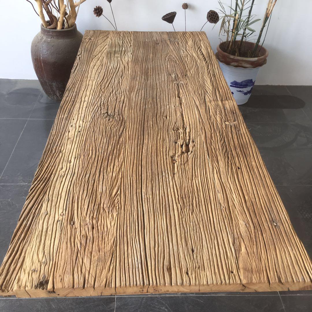 实木桌面老榆木板长方形地板踏板