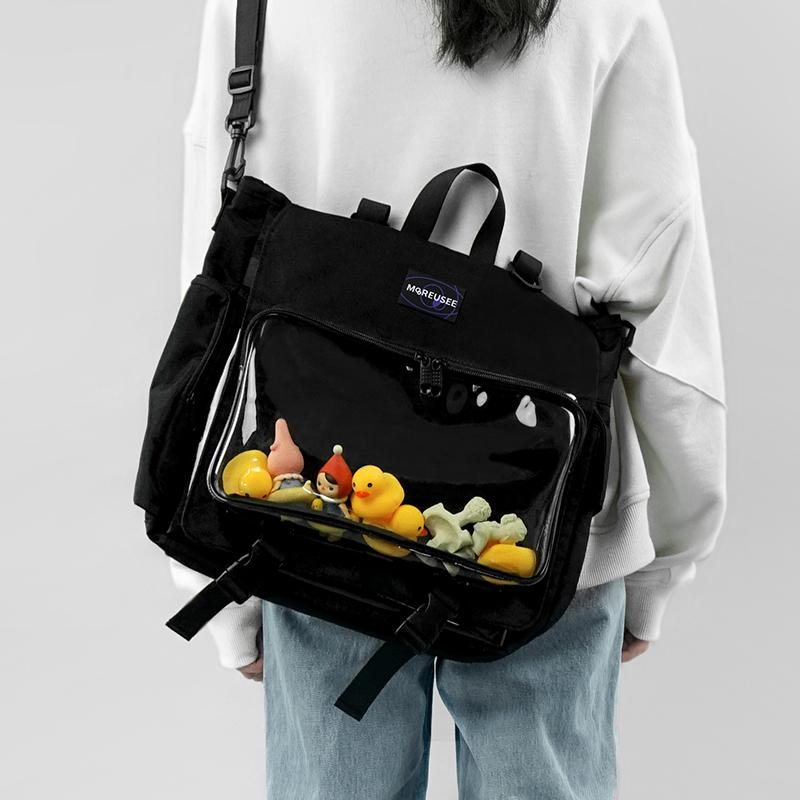 木与石包包女休闲斜挎包大容量新款透明果冻包娃包单双肩背包痛包