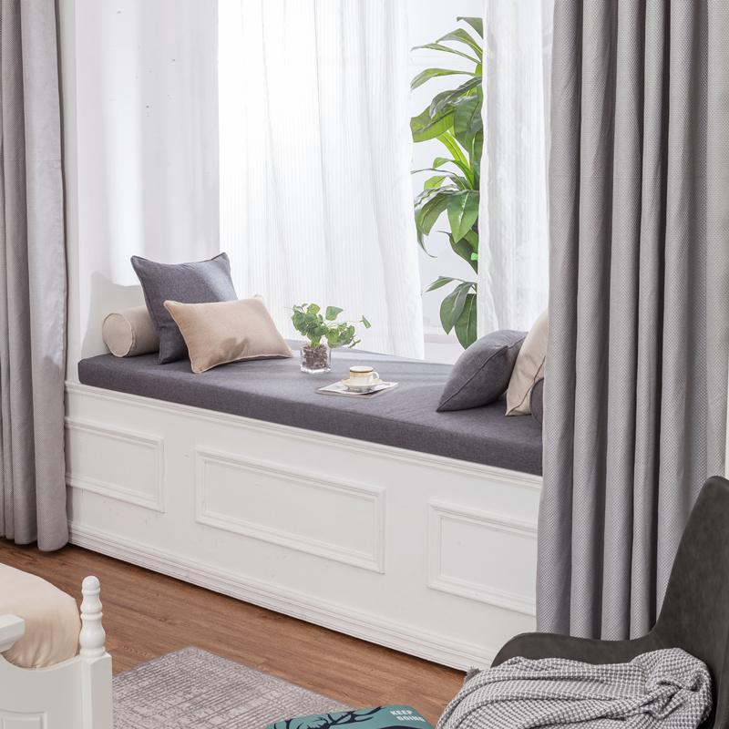 飘窗垫窗台垫四季通用海绵垫定做北欧风网红垫卧室坐垫毯阳台垫子(非品牌)