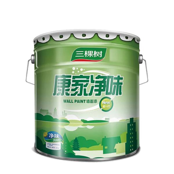 三棵树内墙乳胶漆康家净味墙面漆白色涂料环保室内刷漆油漆20kg