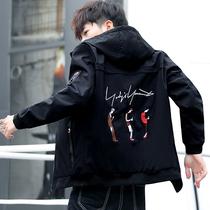 男士夹克春秋季工装外套青年学生韩版修身帅气上衣男装潮流棒球服