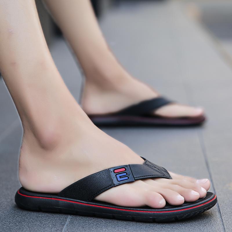 拖鞋男夏人字拖潮流厚底防滑软底个性耐磨男士凉拖时尚外穿沙滩鞋