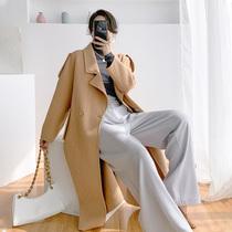 高端大码女装2020年新款胖mm双面呢子风衣大衣中长款显瘦遮肉外套