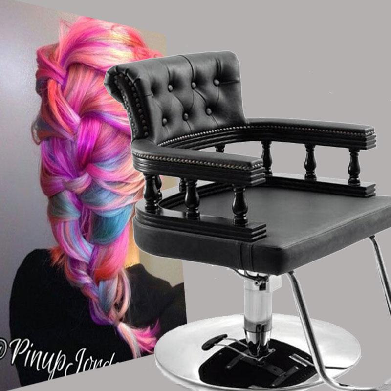 厂家直销剪发椅理发店座椅复古高档欧式美发椅子连锁理发养发椅