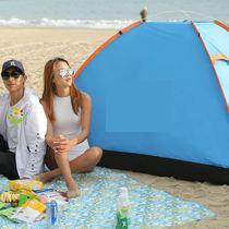 双人全自动野外沙滩帐蓬防雨露营43人2骆驼液压帐篷户外野营加厚