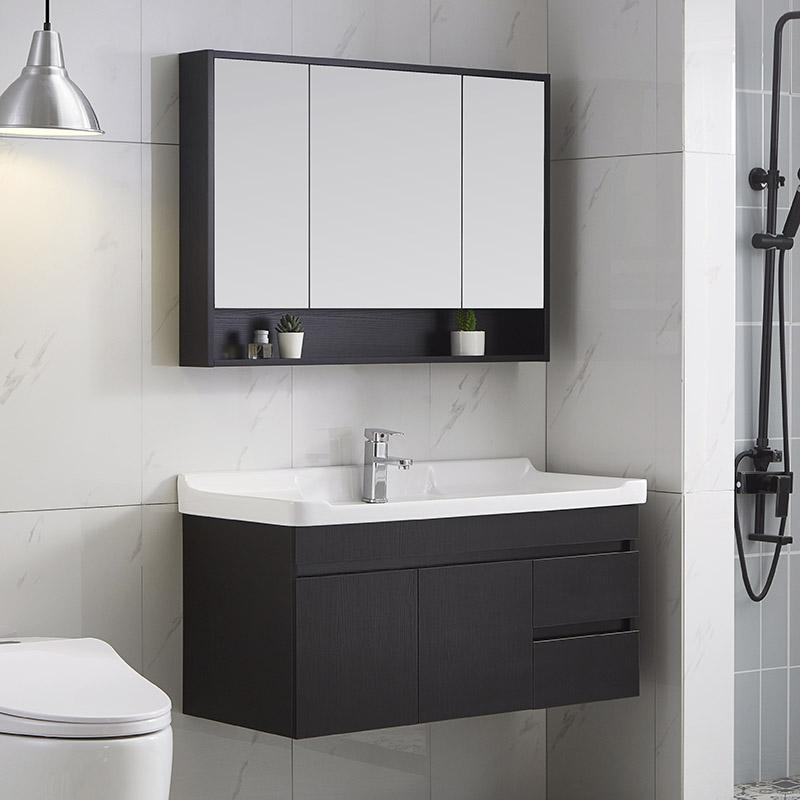 北欧卫生间实木洗脸池简约洗手盆柜