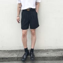 ESC MAN STUDIO/韩国新品chic立体裁剪基础款韩版休闲西装短裤男