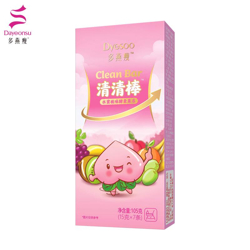 郑多燕水蜜桃味酵素冻清清棒孝素果蔬酵素水果冻条非酵素饮品