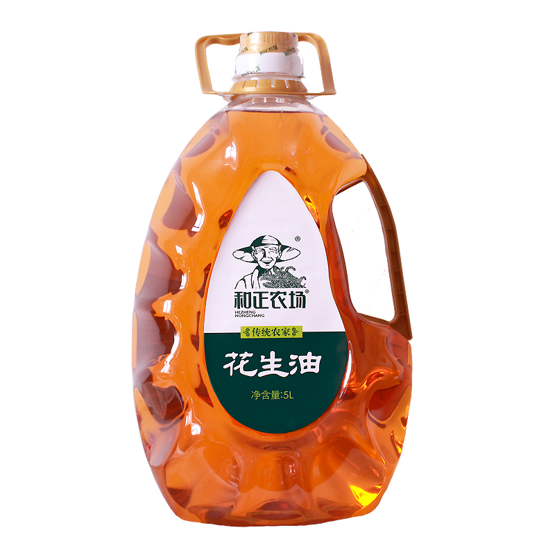Physical pressing of peanut oil 5L from Hezheng farm