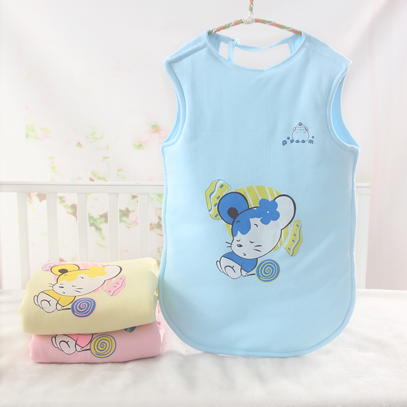 Babys cotton open back sleeping bag babys sleeve less sleeping bag in spring and Autumn