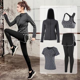 瑜伽服跑步健身房运动套装女宽松大码网红显瘦时尚速干衣初学者夏