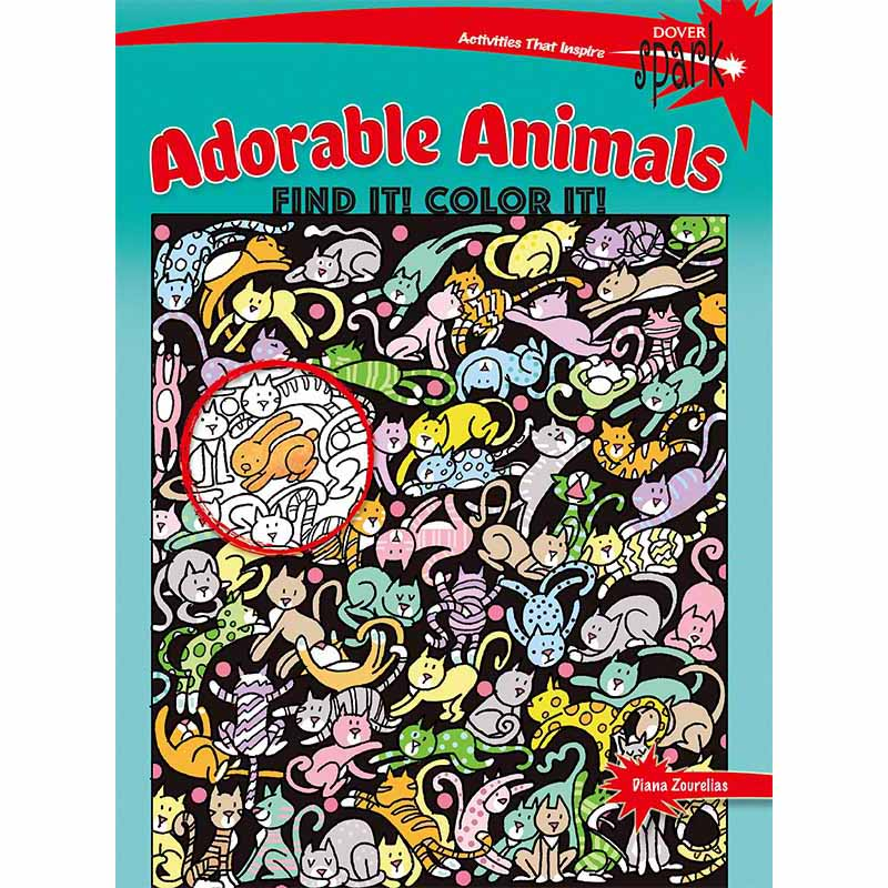 SPARK Adorable Animals Find It! Color It!