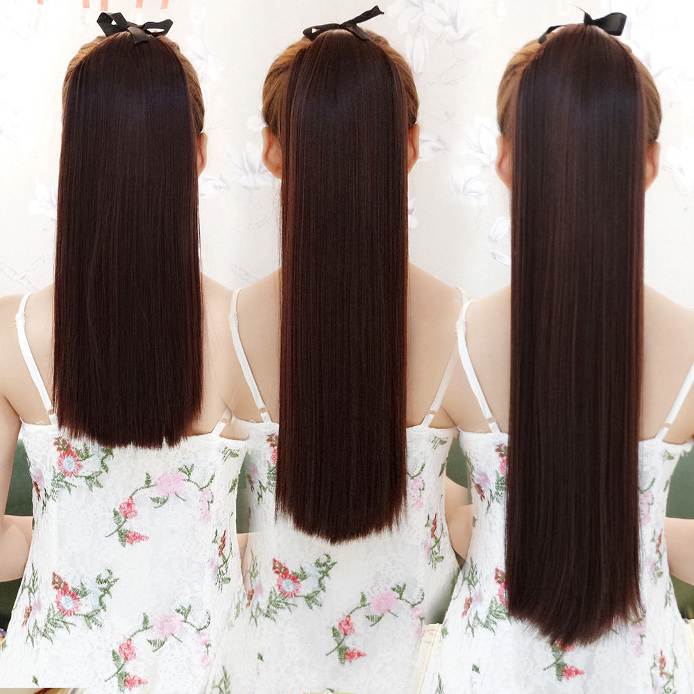 Парик хвощ лесной коса девочки долго краткое модель прямые волосы природный реалистичное изображение бандаж стиль парик хвост один чип передавать лист
