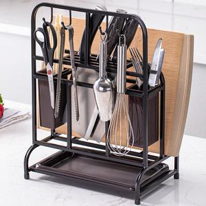 不锈钢刀架厨房用品置物架家用大全多功能筷子笼砧板菜刀具收纳架