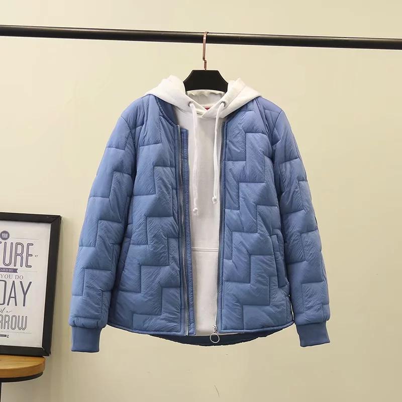 。胖妹妹冬季棉衣女潮ins超火大码百搭小棉衣短款200斤宽松轻薄外图片