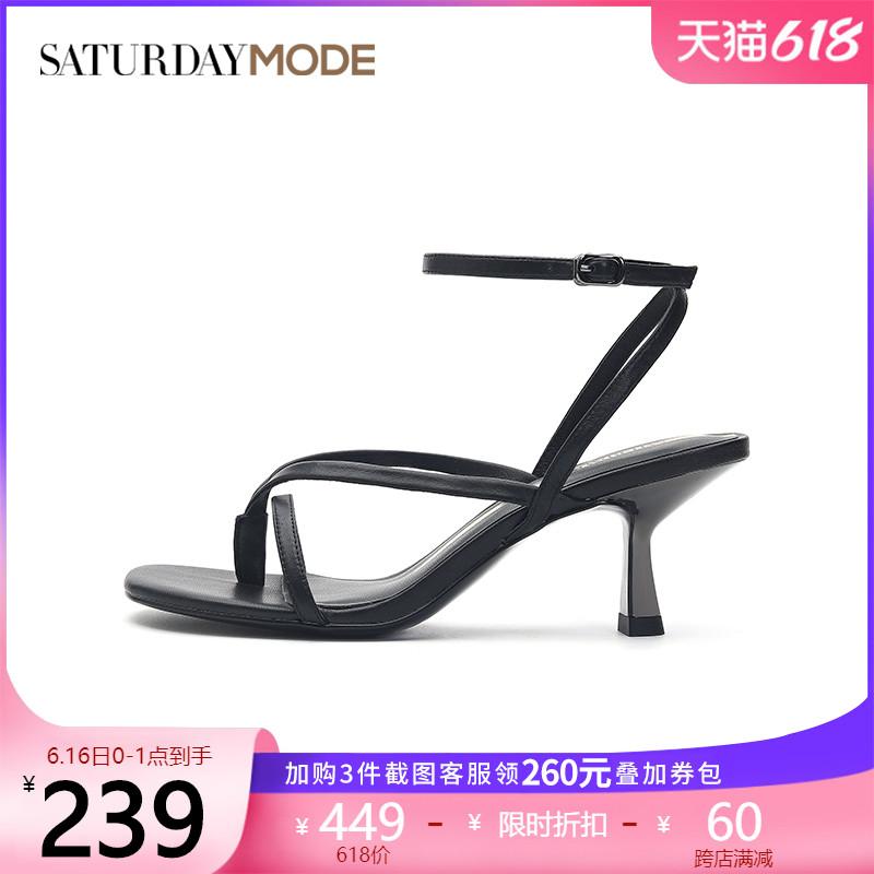 MD12115021夏新款绑带罗马风时装凉鞋细高跟夹趾2021星期六凉鞋女