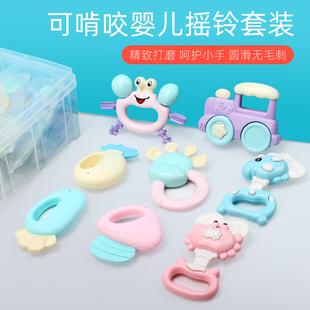 怀乐新生婴儿宝宝0-1岁早教益智动手摇铃牙胶乐器玩具3-6-12个月价格