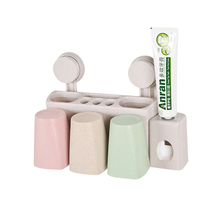 Home style toothbrush holder creative suction cup toothbrush cup toothbrush face wash suit wall rack for toothbrush