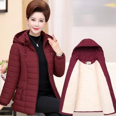 新款妈妈棉衣短款中老年女装冬装棉服50岁中年人加绒加厚棉袄外套