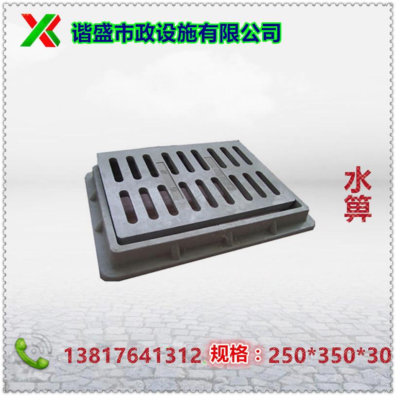 厂家直供优质复合树脂水箅井盖雨水箅子250×350×30普型地沟盖板