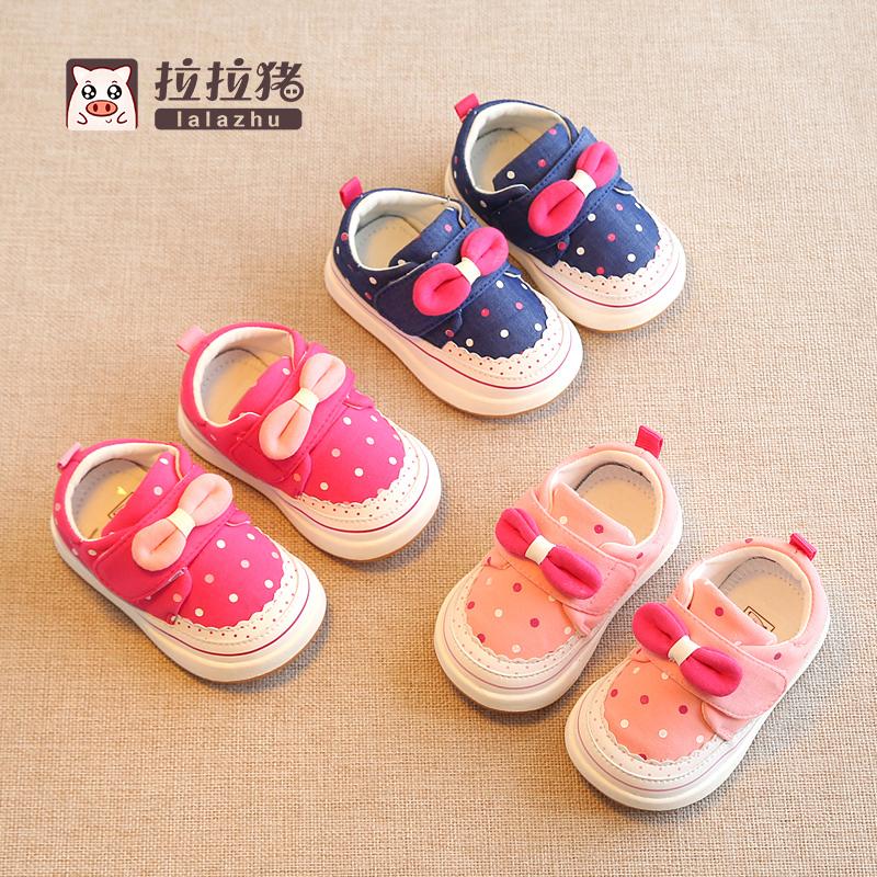 春秋女宝宝公主鞋婴儿学步鞋软底单鞋幼儿童鞋女童布鞋子1-3岁2一