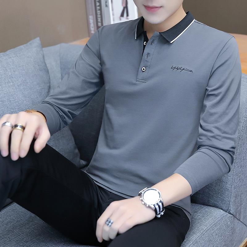 Summer ice Polo tbpolo shirt mens short sleeve business autumn thin poiot long sleeve slim fitting plol lead