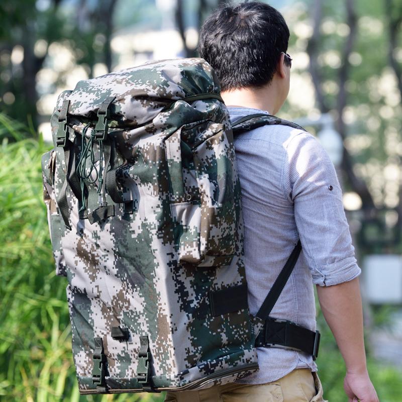 正品07背囊01B寒区单兵生活携行具内钢架大容量防水双肩迷彩背包