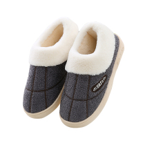 Home warm winter home men cotton shoes home plush slippers women indoor thick bottom pack and cotton slippers