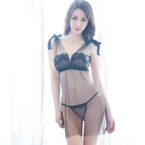 女人性感情趣內衣服奶子SM透視裝睡衣夜火激情制服用品三點式套裝