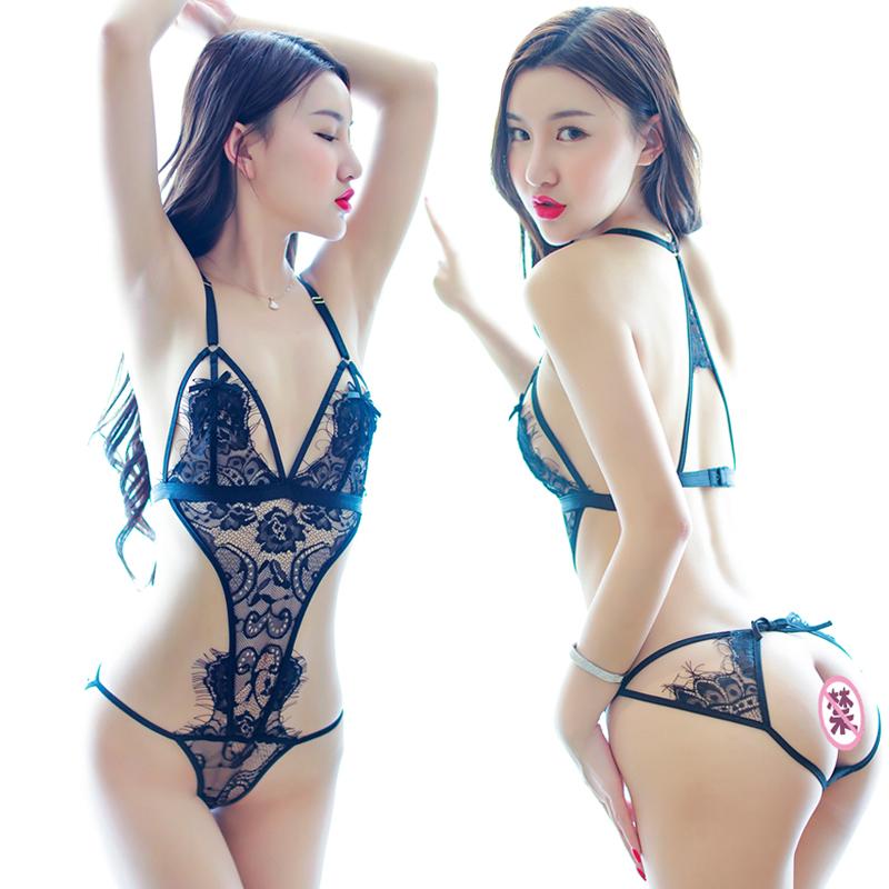 性感情趣骚内衣制服连体衣夜火用品诱惑小胸三点式激情套装透视装
