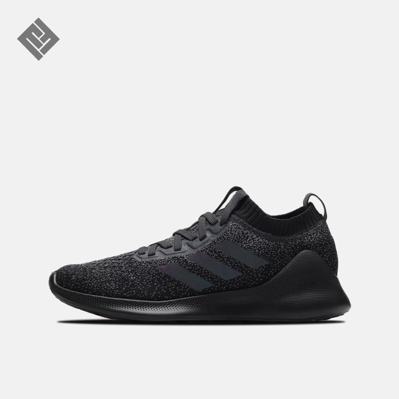 阿迪达斯男女2019夏季新款鞋子运动鞋Bounce跑步鞋软底减震黑色鞋(非品牌)
