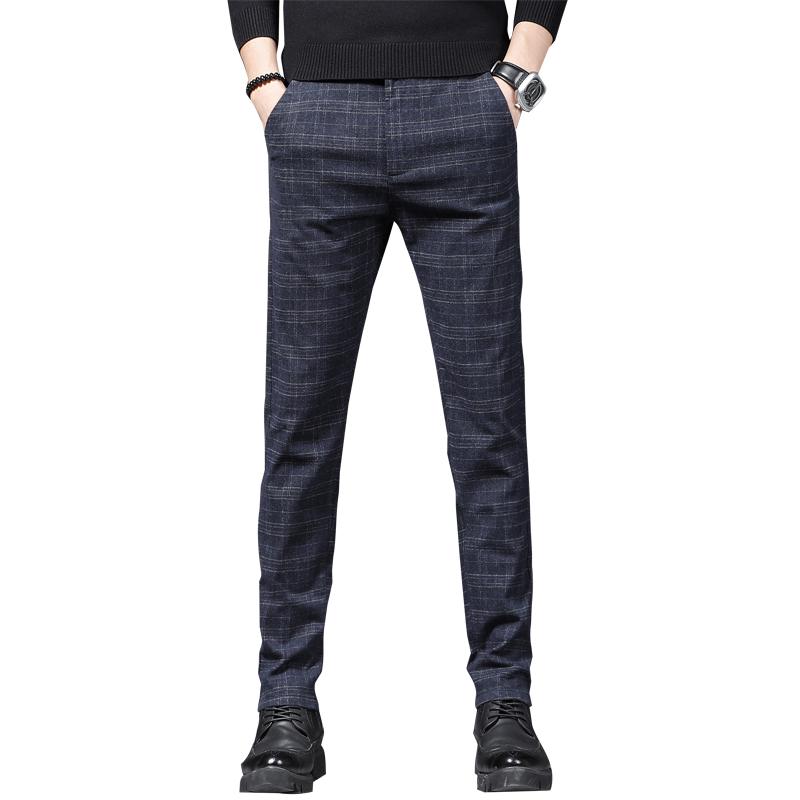 【猎奇豹】男士裤子休闲西裤修身小脚裤