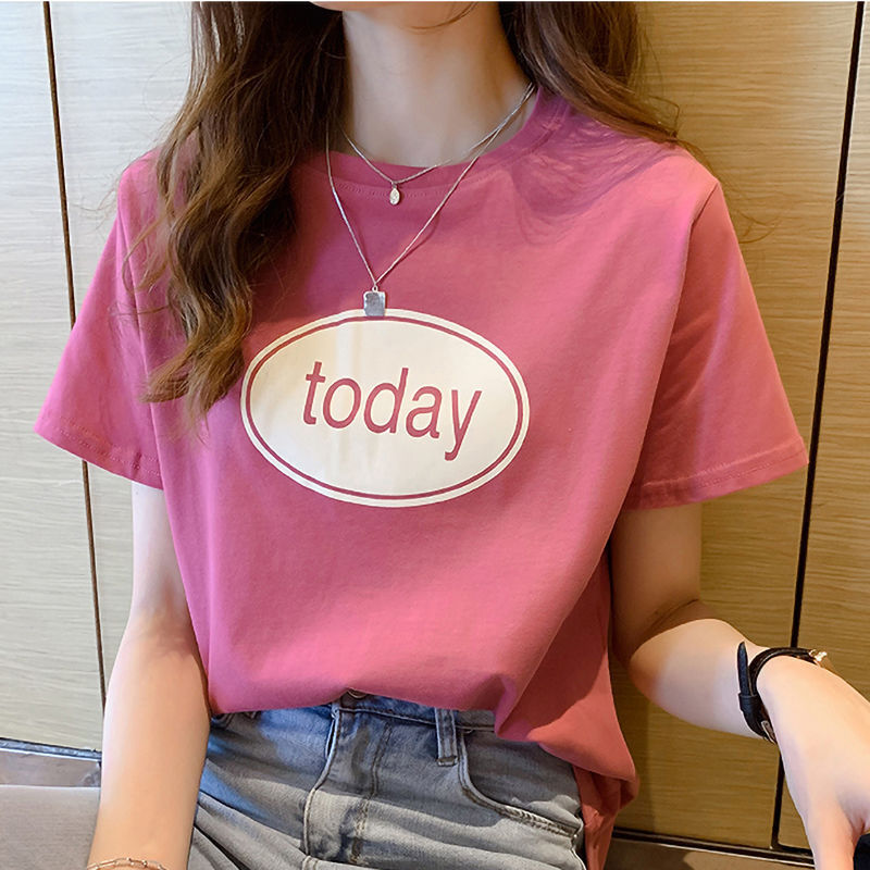 Summer 2020 new short sleeve Korean T-shirt womens versatile loose top t-shirt t-shirt