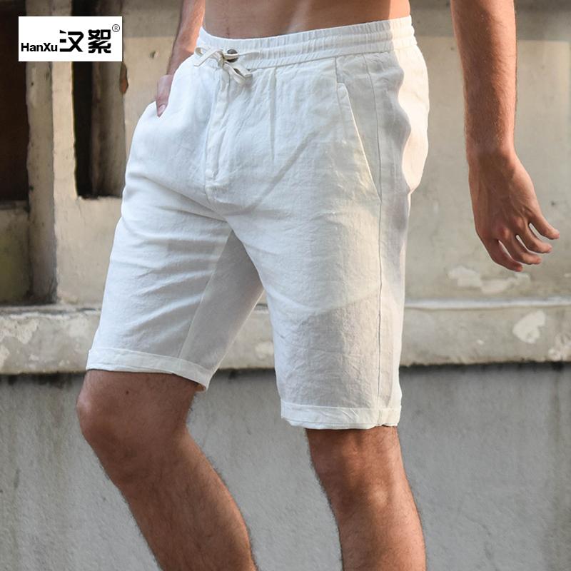 券后118.00元汉絮夏季五分裤亚麻料纯色棉麻短裤