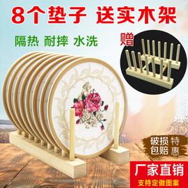 欧式密胺仿瓷隔热垫 餐桌盘垫创意碗垫耐热防烫锅垫子家用