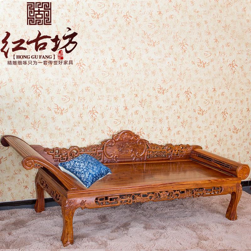 Красное дерево мебель китайский стиль палисандр королевский кровать античный ложь диван еж розовое дерево дерево королевский стул случайный шезлонг
