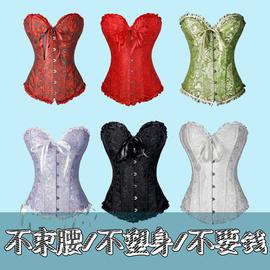 长短款束胸托新娘束身衣瘦身衣婚纱宫廷塑身衣上衣紧身胸衣corset