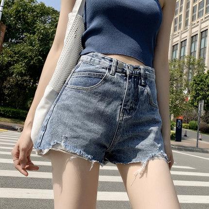 牛仔短裤女夏季2020年新款潮ins高腰显瘦宽松阔腿网红a字泫雅热裤