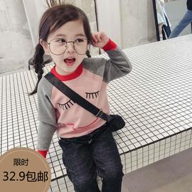 女童毛衣套头2020秋冬新款童装宝宝卡通针织衫春秋儿童长袖打底衫