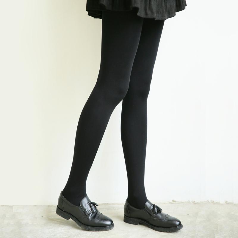 强大弹力连裤袜春秋季中厚款哑光麻色系厚丝袜女打底袜子黑色180D