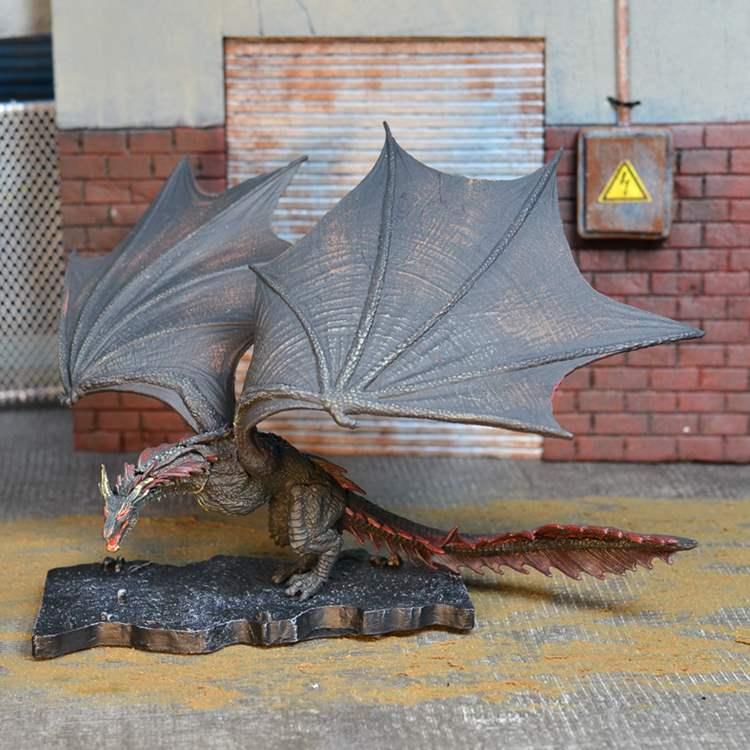 热卖正版麦克法兰 权力的游戏 黑龙 火龙Drogon 卓戈龙母可动模型
