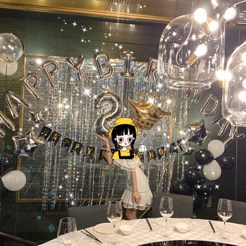 成人布置铝膜套餐装扮饰情人节气球15.90元包邮