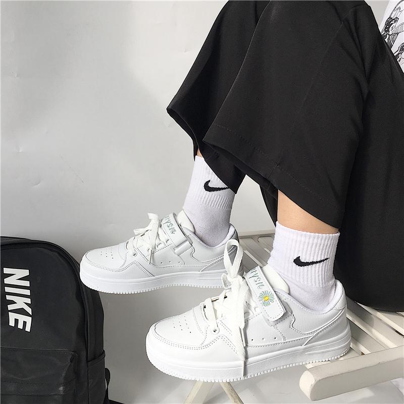 小雏菊板鞋ins超火2020夏季新款魔术贴小白鞋chic百搭运动休闲鞋图片