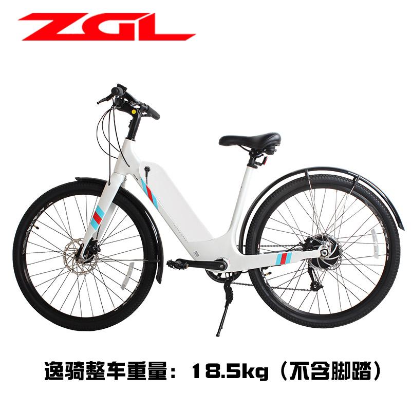 11-30新券ZGL碳纤维助力山地车M370禧玛诺9变速女休闲代步锂电池电动自行车