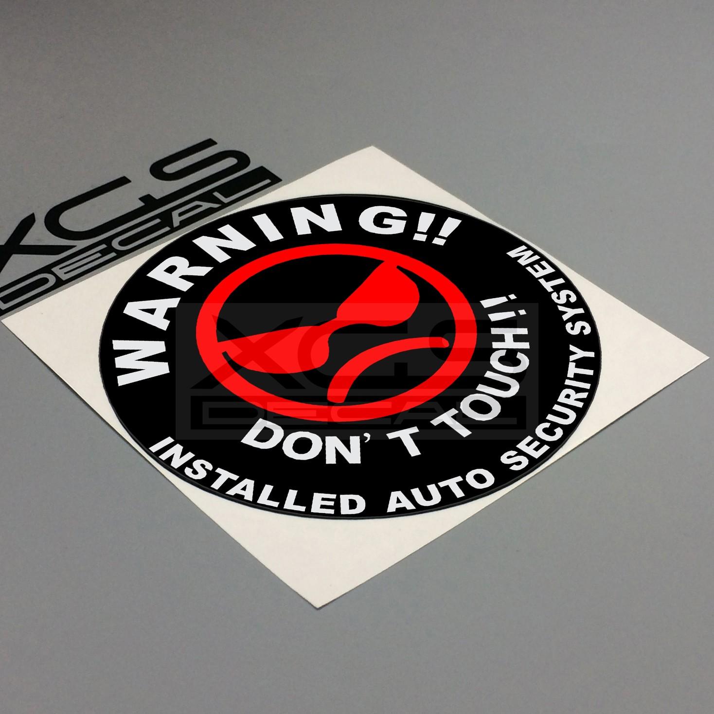 汽车摩托电动车装饰贴纸警告 don't touch 叠层反光划痕车贴花