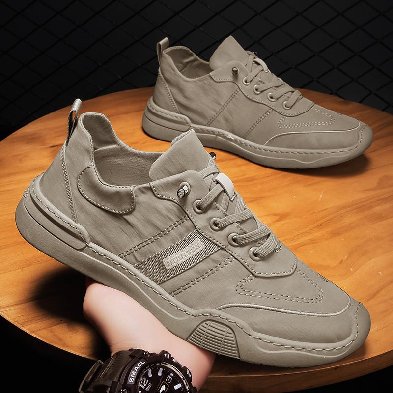 劳保男鞋夏季透气薄款冰丝工作老北京布鞋上班防水防滑工地潮鞋子